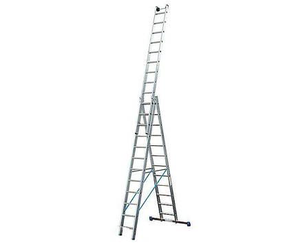 Универсальная трехсекционная лестница KRAUSE STABILO 3x14 ступеней