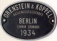 1934 - эмблема О&К  Оренштайн унд Коппел