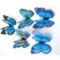 3D стикер декаль наклейка для стены Бабочки, стікер Метелики СМ5