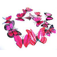 3D стикер декаль наклейка для стены Бабочки, стікер Метелики СМ6