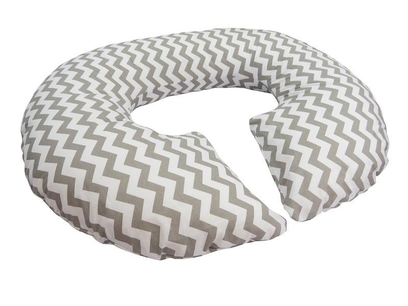 Подушка для беременных «Рогалик» Зигзаг с наволочкой