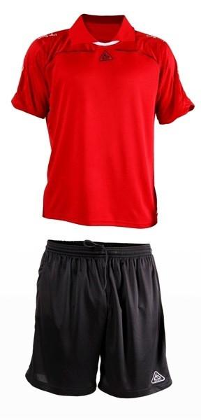 Форма футбольная Liga Sport красно-черная