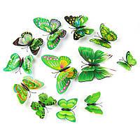 3D стикер декаль наклейка для стены Бабочки, стікер Метелики СМ4