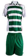 Форма футбольная Liga Sport бело-зеленая полосатая, фото 1