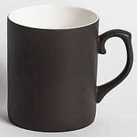 Черная фарфоровая чашка Хамелеон