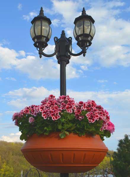 Вазон фонарный ф750 мм для благоустройства парков, скверов.