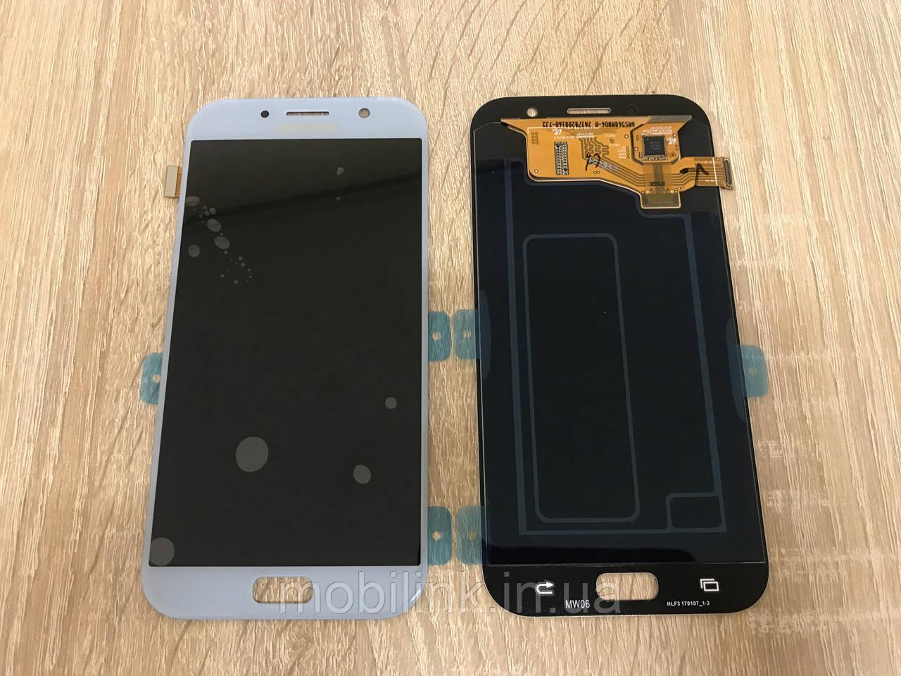 Дисплей на Samsung A720 Galaxy A7(2017) Голубой(Blue),GH97-19723C, Super AMOLED!