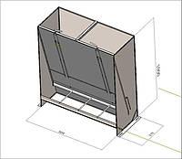 Бункерные кормушки для свиней односторонние, фото 1
