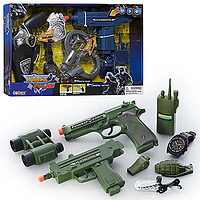 Детский игровой набор Набор полиции игрушечный автомат с звуковым и световым эффектом, игруш. пистолет, часы,