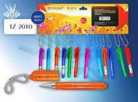 TZ 2010 Ручка-брелок.Корпус из цвет.прозрач.глянц.пластика(ассорти 6цв).(1440/720/144/ящ)