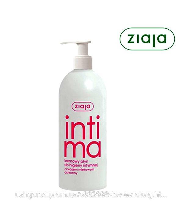 Гель - крем для интимной гигиеныZiaja kremowy płyn do higieny intymnejz kwasem laktobionowym 500мл