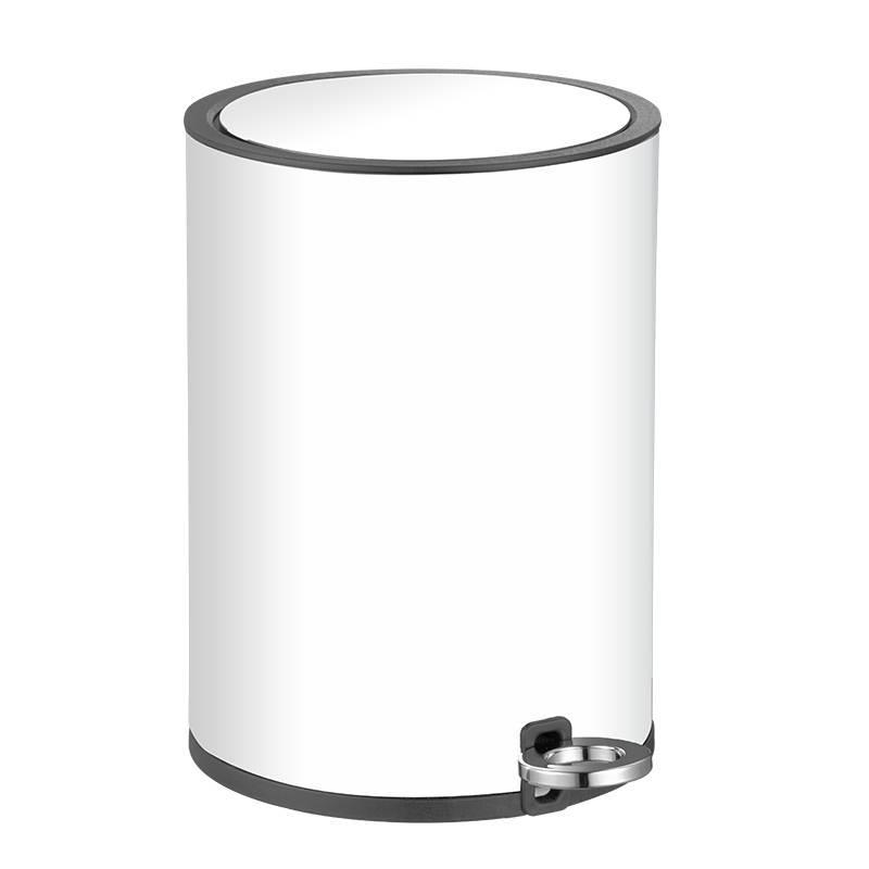 Контейнер для мусора белый на 6л с микролифтом AWD02031346