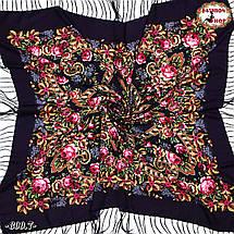 Павлопосадская фиолетовая шаль Непревзойдённая роспись, фото 2
