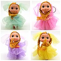 """Брелок-Кукла """"Невеста"""" маленькая Эльза в розовом платье, 3 вида"""