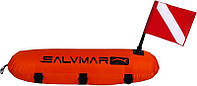 Буй для подводной охоты и дайвинга Salvimar Torpedo; с двумя флагами сальвимар торпедо