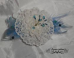Фантазийный цветок из гипюра под заказ