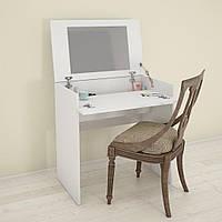 Белый раскладной туалетный столик с  зеркалом Найс