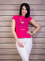 Стильная женская футболка с прорезями на спинке p.42-50 VM1960-3