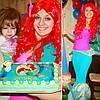 Аниматоры Русалка Ариель и  Принцесса Моана на гавайский день рождения, Киев