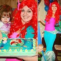 Аниматоры Русалка Ариель и  Принцесса Моана на гавайский день рождения, Киев, фото 1