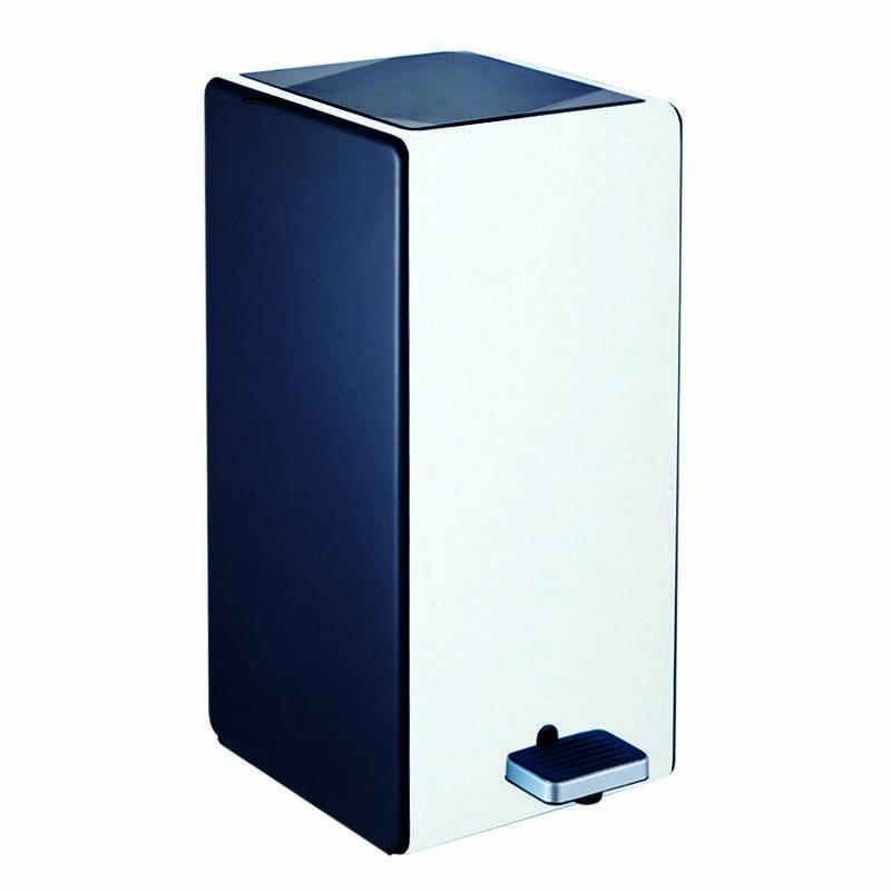 Контейнер для сміття чорно білий на 7л з мікроліфтом AWD02031348