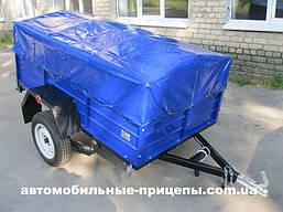 Автомобильный легковой одноосный прицеп Лидер 1.2х2.0х0.4 Киевский рессора Волга или ALKO