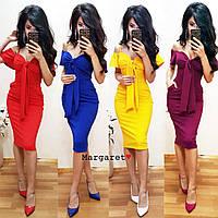 женское коктейльное платье на чашечках с карманами в разных цветах