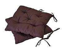 Подушка на стул 40х40см темно-коричневая ТМ Прованс
