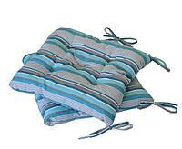 Подушка на стул 40х40см в полоску ТМ Прованс
