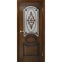 """Двери межкомнатные натуральный шпон """"Виктория СС+ФП (орех лесной) ТМ Омис (Украина)"""