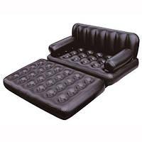 Диван-кровать 5 в 1 75039SIC, 188-152-64 см (черный)