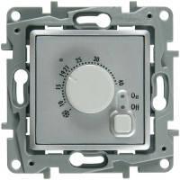 Термостат (терморегулятор) для теплого пола, алюминий, Legrand Etika Легранд Этика