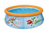 """Семейный надувной бассейн Intex, 28102 """"Planes"""" (183*51 см)"""