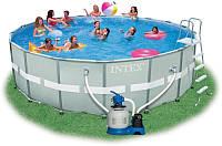 Каркасный бассейн Intex, 28332 (54956) (549*132 см) с песочным фильтром