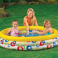 """Детский надувной бассейн Intex, 58439 """"Геометрические узоры"""""""