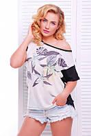 Модная женская футболка с принтом Air ТМ  Fashion UP 42-56 размеры