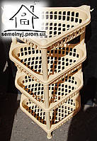 Этажерка угловая Efe plastics на 4 яруса (бежевая)