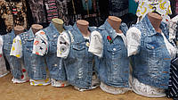 Стильная женская джинсовая желетка