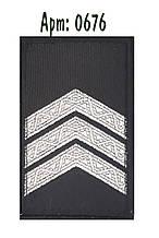 Погон Поліції на липучці чорний сержант
