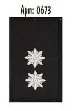 Погон Поліції на липучці лейтенант чорний
