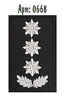 Погон Полиции на липучке  черный (полковник)
