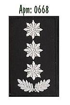 Погон Поліції на липучці чорний полковник