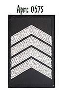 Погон Полиции на липучке  черный (старший сержант )