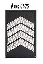 Погон Поліції на липучці чорний старший сержант