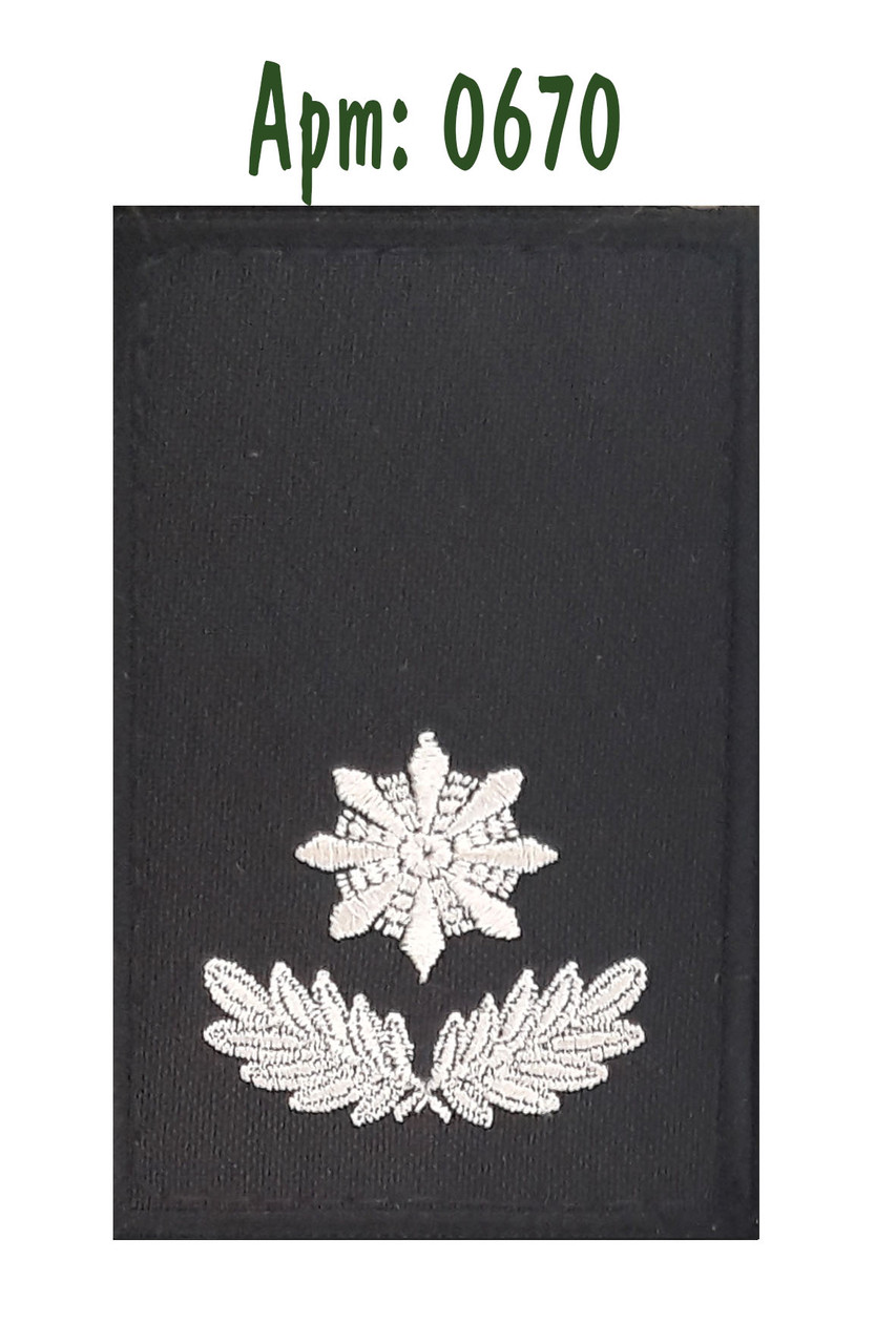 Погон Полиции на липучке  черный (майор)