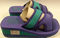 Шлепанцы детские на пене р33 LUCKYS фиолетово-зеленые
