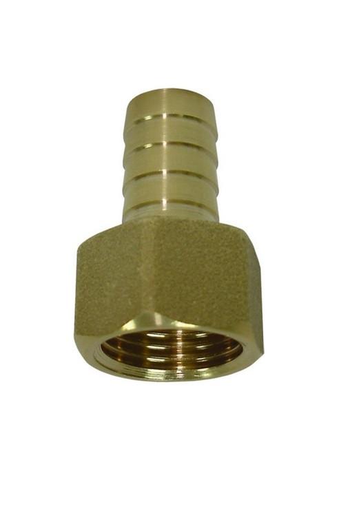 Латунный Штуцер 10 мм , с внутренней резьбой 1/2 под шланг 8,9,10 мм