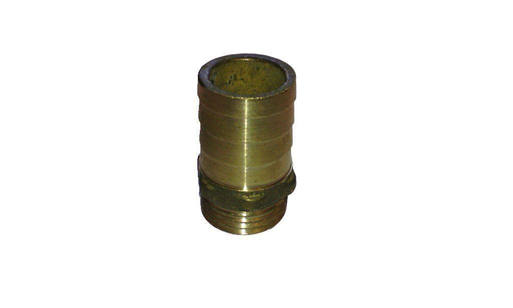 Латунний Штуцер 20 мм, з зовнішньою різьбою 1/2.