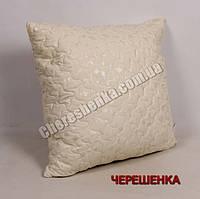 Подушка микрофибра/холлофайбер 70*70 желтая (на замке)