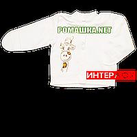 Детская кофточка р. 56 с царапками демисезонная ткань ИНТЕРЛОК 100% хлопок ТМ Алекс 3173 Бежевый А